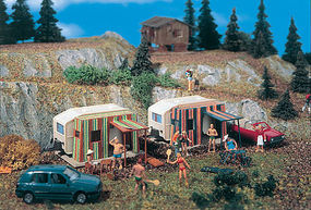 Vollmer Camper Trailers (2) HO Scale Model Railroad Vehicle #45145