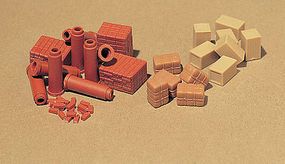 Vollmer Brick Piles & Pipe HO Scale Model Railroad Building Accessory #45241