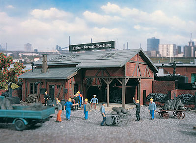 Vollmer Gmbh Coal Depot Kit -- HO Scale Model Railroad Building -- #45615