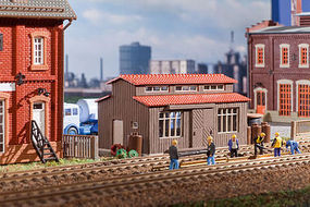Vollmer Wood Hazardous Materials Shed Kit HO Scale Model Railroad Building #45622