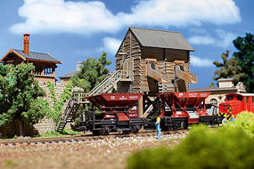 Vollmer Gravel Loader Kit - HO-Scale HO Scale Model Railroad Building #45635