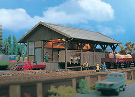 Vollmer Freight Shed Kit HO Scale Model Railroad Building #45700