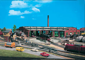 Vollmer Six Stall Roundhouse Kit HO Scale Model Railroad Building #45758