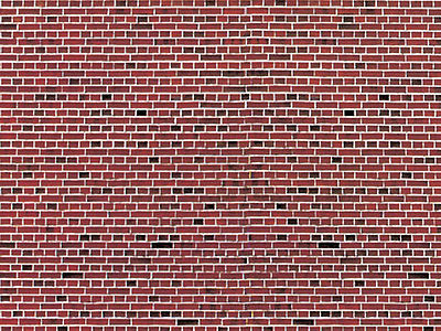 Stone Pattern Embossed Paper Red Brick Ho Scale Model
