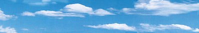 Vollmer Sky & Clouds Background Scene Model Railroad Miscellaneous Scenery #46105