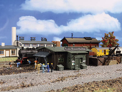 Vollmer Coaling Station/Depot Kit N Scale Model Railroad Building #47554