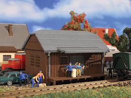 Vollmer Freight Shed Goods Shed Kit N Scale Model Railroad Building #47575