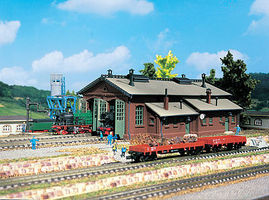 Vollmer Double Track Engine Shed Kit N Scale Model Railroad Building #47608