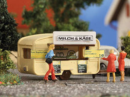 Vollmer Milk & Cheese Stand Concession Trailer N Scale Model Railroad Building #47620