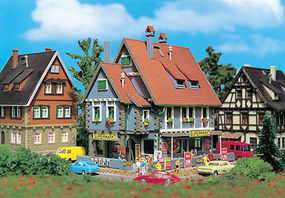 Vollmer Supermarket Kit N Scale Model Railroad Building #47660