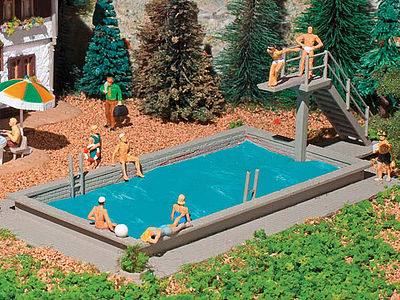 Vollmer Swimming Pool Kit N Scale Model Railroad Building Accessory #47668