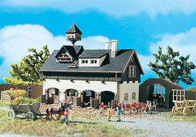 Vollmer Stable w/Pigeon Loft Kit N Scale Model Railroad Building #47706