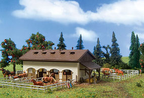 Vollmer Horse Paddock w/Horses Kit N Scale Model Railroad Building #47719