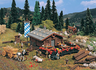 Vollmer Log Mountain Lodge Kit N Scale Model Railroad Building #47741