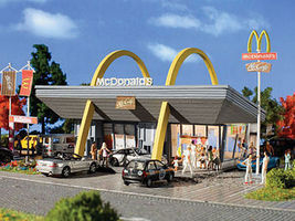 Vollmer McDonald's Restaurant Kit N Scale Model Railroad Building #47765