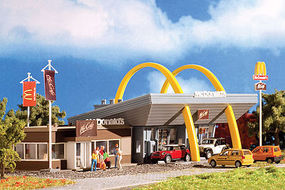 Vollmer McDonald's Restaurant w/McCafe Kit N Scale Model Railroad Building #47766