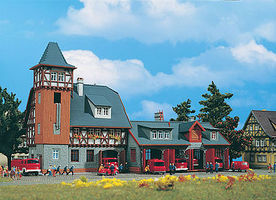 Vollmer Fire Station Kit N Scale Model Railroad Building #47780