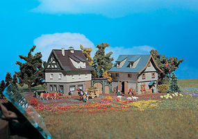 Vollmer Farmhouse With Barn Z Scale Model Railroad Building #49540