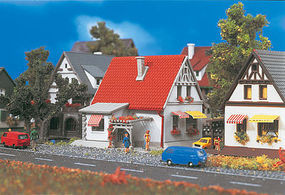Vollmer White House w/Red Roof Z Scale Model Railroad Building #49574