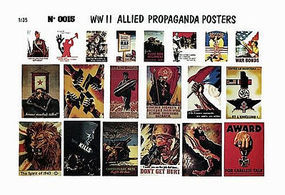 Verlinden 1/35 Allied Propaganda Posters Diorama Book #0015