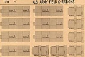 Verlinden US Army Field C-Rations Plastic Model Detailing Accessory Kit 1/35 Scale #0016