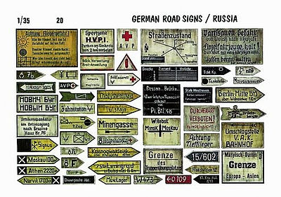 Verlinden Productions 1/35 German Roadsigns Russia -- Diorama Book -- #0020