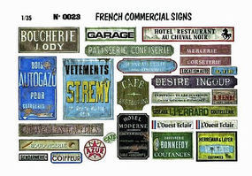 Verlinden 1/35 French Commercial Signs Diorama Book #0023