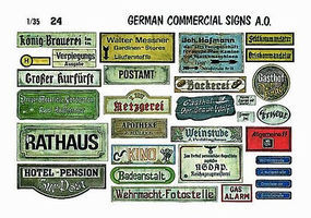 Verlinden 1/35 German Commercial Signs Diorama Book #0024