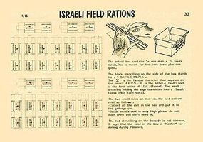 Verlinden Israeli Field Rations Plastic Model Detailing Accessory Kit 1/35 Scale #0033