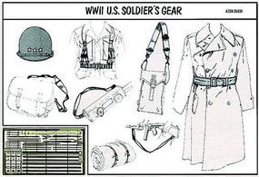 Verlinden WWII US Soldiers Gear Plastic Model Detailing Accessory Kit 1/35 Scale #0056