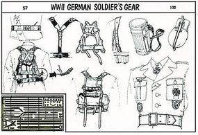 Verlinden WWII German Soldiers Gear Plastic Model Detailing Accessory Kit 1/35 Scale #0057