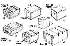 Verlinden US Small Arms Ammo Boxes Plastic Model Detailing Accessory 1/35 Scale #0088