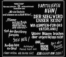 Verlinden WWII German Wall Slogans Plastic Model Military Decal 1/35 Scale #0165