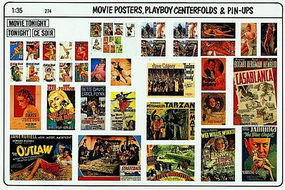 Verlinden Movie Posters, Playboy Pin Plastic Model Random Decal 1/35 Scale #0274