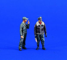 Verlinden USAAF Pilot & Mechanic Resin Model Military Figure Kit 1/35 Scale #0700