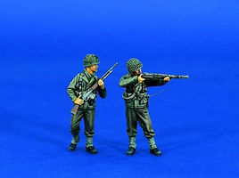 Verlinden WWII US Rifle Squad Resin Model Military Figure Kit 1/35 Scale #0747