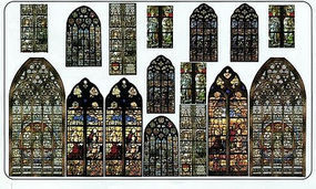 Verlinden Stained Glass Windows Plastic Model Detailing Accessory Kit 1/35 Scale #0788