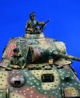 Verlinden 120mm German Tank Crew Resin Model Military Figure Kit 1/16 Scale #0959