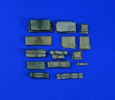 Verlinden Packs & Tarpaulins Plastic Model Detailing Accessory Kit 1/35 Scale #1002