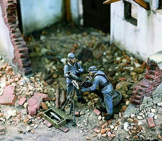 Verlinden German Heavy Mortar Team Resin Model Military Figure Kit 1/35 Scale #1003