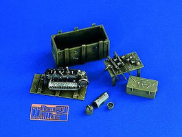 Verlinden Luftwaffe Maintenance Corner Plastic Model Aircraft Accessory 1/48 Scale #1132
