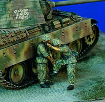 Verlinden German Infantry Climbing Tank Resin Model Military Figure Kit 1/35 Scale #1173