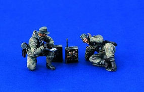 Verlinden German WWII Radio Team Resin Model Figure Kit 1/35 Scale #1240