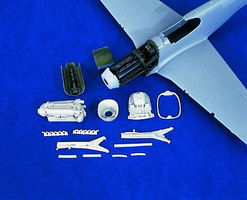 Verlinden P51A Engine Plastic Model Aircraft Accessory 1/48 Scale #1260