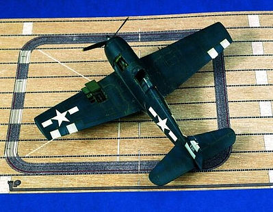 Verlinden Productions US WWII Carrier Deck -- Plastic Model Aircraft Accessory -- 1/72 Scale -- #1262
