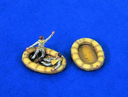 Verlinden USN Pilots WWII in Dinghy Resin Model Figure Kit 1/48 Scale #1278