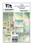 Verlinden WWII Maps, Newspapers, Etc. Plastic Model Military Decal 1/35 Scale #1281