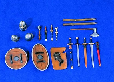 Verlinden Productions 120mm Medieval Accessories Set -- Plastic Model Weapon Kit -- 1/16 Scale -- #1309