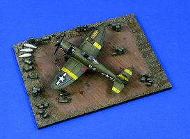 Verlinden USAAF Service Area WWII Resin Military Diorama Kit 1/72 Scale #1466