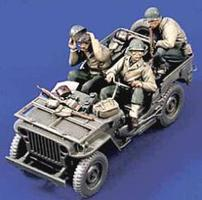 Verlinden Willys Jeep Crew Resin Model Military Figure Kit 1/35 Scale #1525